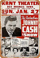 MiMiTee Cash Show Blechschild Vintage Metall