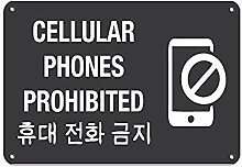 MiMiTee Cellular Phones Prohibited No Cell Phones