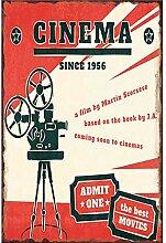 MiMiTee Cinema Blechschild Vintage Metall