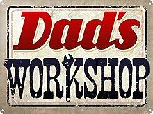 MiMiTee Dad's Workshop Blechschild Vintage