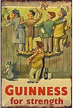 MiMiTee Guinness for Strength Blechschild Vintage