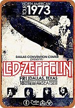 MiMiTee Led Zepelin in Dallas Blechschild Vintage