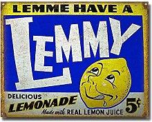MiMiTee Lemmy Blechschild Vintage Metall