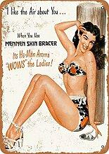 MiMiTee Mennen Skin Bracer Blechschild Vintage