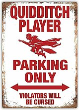 MiMiTee Quidditch Parking Only Blechschild Vintage