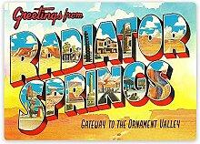 MiMiTee Radiator Springss Blechschild Vintage
