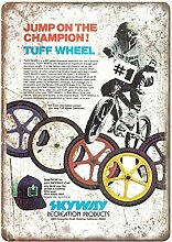 MiMiTee Skyway Wheels BMX Blechschild Vintage