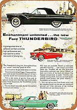 MiMiTee Thunderbird Blechschild Vintage Metall