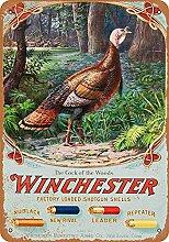 MiMiTee Winchester Blechschild Vintage Metall