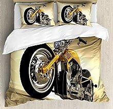 Minalo Motorrad-Bettbezug-Set, Iron Custom