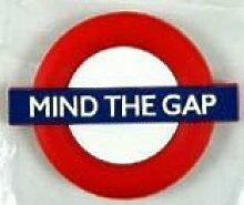 Mind The Gap London Underground Rubber Magnet (ba)