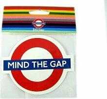 Mind the Gap Roundel Aufkleber, Transport for