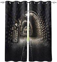 Mine Black Tunnel Fenster Innen Vorhang Valance