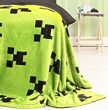 Minecraft Fleece-Überwurf, Smaragdgrün,