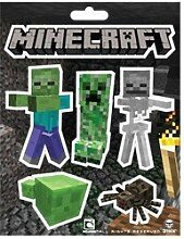 Minecraft Sticker Set von 3: Creeper Face, Monster & Creeper Inside