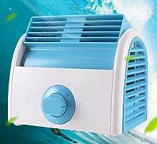 MinegRong 220V Neuer tragbarer Ventilator Kühlung Desktop Ventilator 15.99 W Bladeless Ventilator Ventilateur Sans Pales Tower Ventilator, Blau