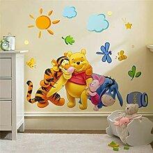MINGH-Winnie The Pooh Freunde Wandaufkleber Für