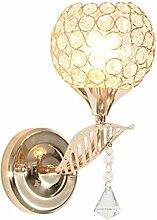 MINGLIANG Nachttischlampe für Schlafzimmer, Gold