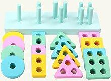 Mings Kinderspielzeug Holz Geometrische Form