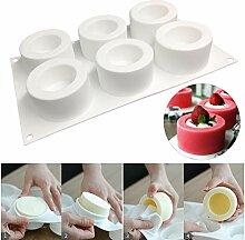 Mini 6-Tasse Silikon Backform, Antihaft Donut