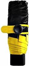 MINI Damen Portable Winddicht Wasserdicht Mode Sonnenschirm Regen Regenschirm,Yellow