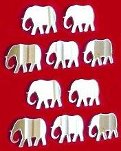 Mini Deko-Elefant Wandspiegel, Bundle Pack