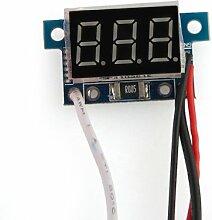 Mini Digital Amperemeter Ammeter Stromanzeige Panelmeter 0-5A Rot LED