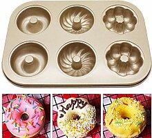 Mini Donut Form, Donut Pfanne, 6 Loch Antihaft