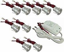 Mini.Einbaustrahler / Einbauleuchte, LED, 1 W, mit