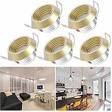 Mini Einbaustrahler Klein LED Set 5er, QYHOME 3W