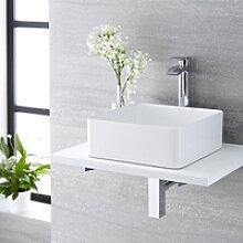 Mini Gäste-WC Handwaschbecken Alswear Quadratisch