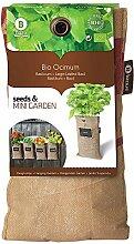 Mini-Garten BIO-Basilikum,1 Jute-Sack