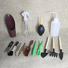 Mini-Gartenwerkzeugset Aus Kunststoff, Holz Und