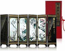 Mini Holz Faltwand Dekoration, chinesische Klassik