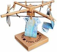 Mini Holz Wäschespinne für Geldgeschenke
