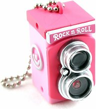 Mini Kamera-Blitz Gadget Schlüsselanhänger Taschenlampe / Ornament-Rosa