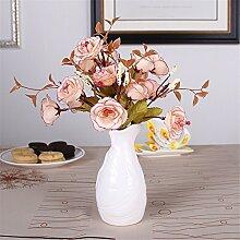 Mini Keramik Vase, A, Weiß für Mittelstücke Wohnzimmer Weihnachten Geburtstag Hochzeit Party Geschenk Desktop Home Decor