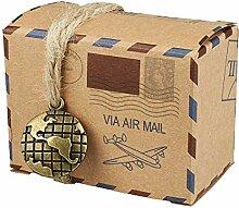 Mini Koffer Süßigkeiten-Boxen, Gastgeschenk-Box
