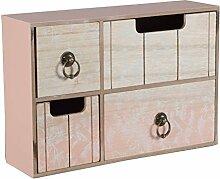 Mini Kommode SPRING Sideboard Schmuckschrank Schubladenschrank Schrank Shabby Rosa