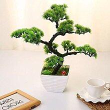 Mini Künstliche Bäume mit Topf Gast-Gruß Kiefer