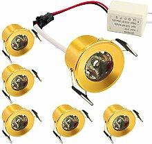 Mini-LED-Einbaustrahler mit LED-Treiber, 1,5 W,