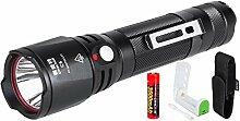 Mini Led Taschenlampe Aufladbar 18650 Akku USB