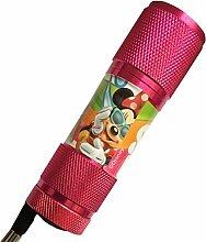 Mini LED-Taschenlampe Minnie rosa