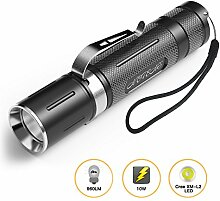 Mini LED Taschenlampe, NOTENS Taschenlampe Outdoor Lampe Clip Mini Penlight 3 Modi für Camping, Wandern, Radfahren, Notfall und Indoor