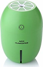 Mini Lemon Night Light Luftbefeuchter Creative Home Schlafzimmer USB Luftbefeuchter Geschenk, grün, 8 * 8 * 11.2cm