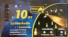 Mini-Lichterkette 10'er Birnen klar Kabel