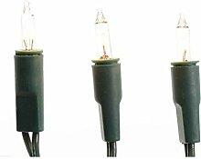 Mini Lichterkette 35 Lampen - grünes Kabel