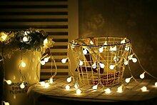 Mini-Lichterkette mit LED-Kugel und Fernbedienung,