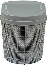 Mini-Mülleimer mit Deckel Mini-Desktop-Mülleimer