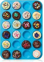 Mini Muffin puncakes Biscuit Pfannen 24Cupcakes Silikon Form Tassen Form antihaftbeschichtet Tablett Bakeware Backen Werkzeuge